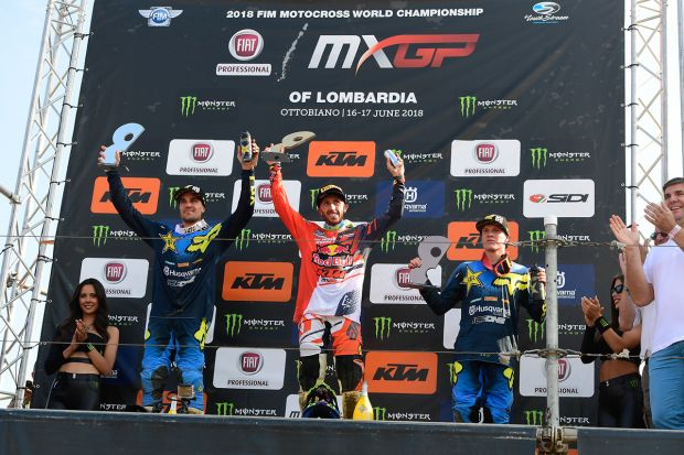 "Tony Cairoli triumphs at the ""Fiat Professional MXGP di Lombardia"""